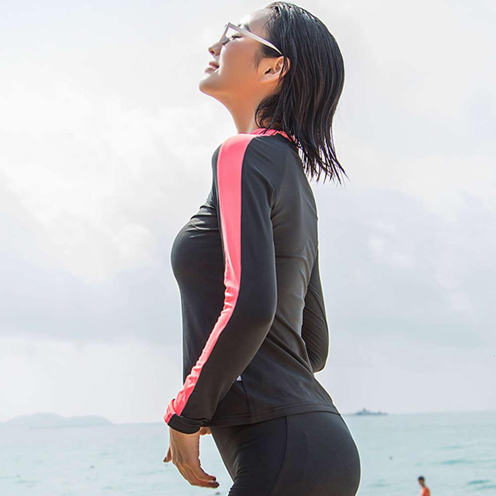 hoodie Ohsunny bathing suit Women Rash Guard Met Lange Mouwen Zon Protection Cooling Surfing Shirts Diving Tops Beach Fast Droog Batmode UPF50