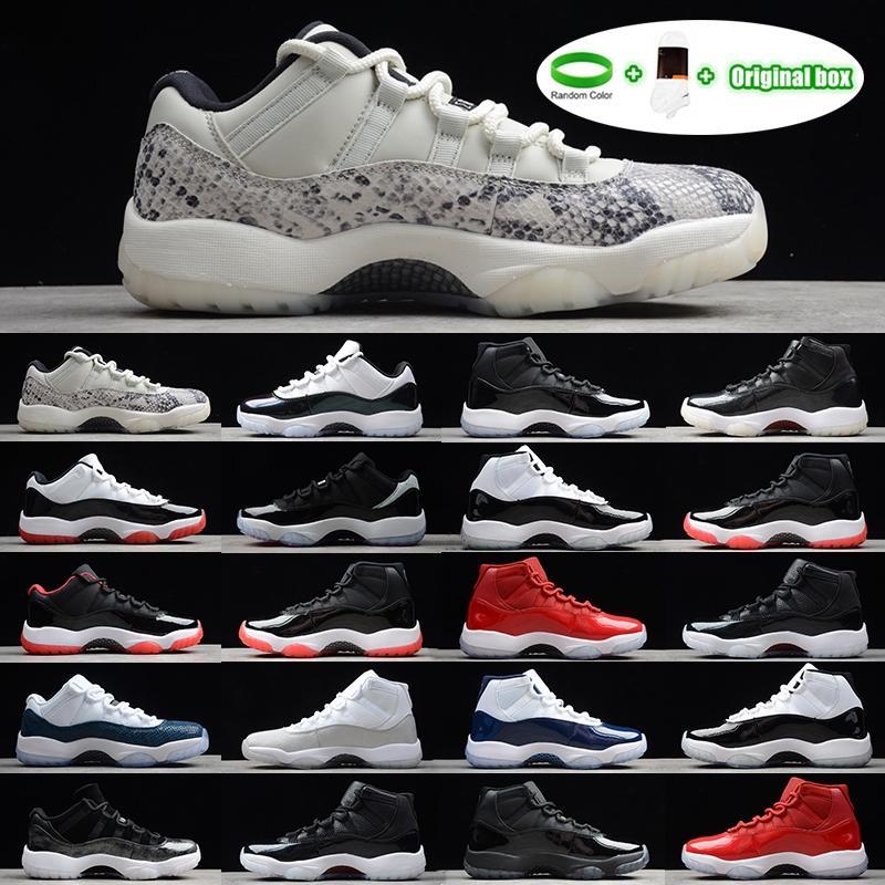 [Bilezik + Çorap + Orijinal Kutu] Air Jordan 11 Jordans AJ11 shoes Concord Yüksek 45 Ayakkabı Platin Tonu 11 XI 11 S Kapağı ve Kıyafeti Erkek Basketbol Ayakkabı PRM Heiress Spor