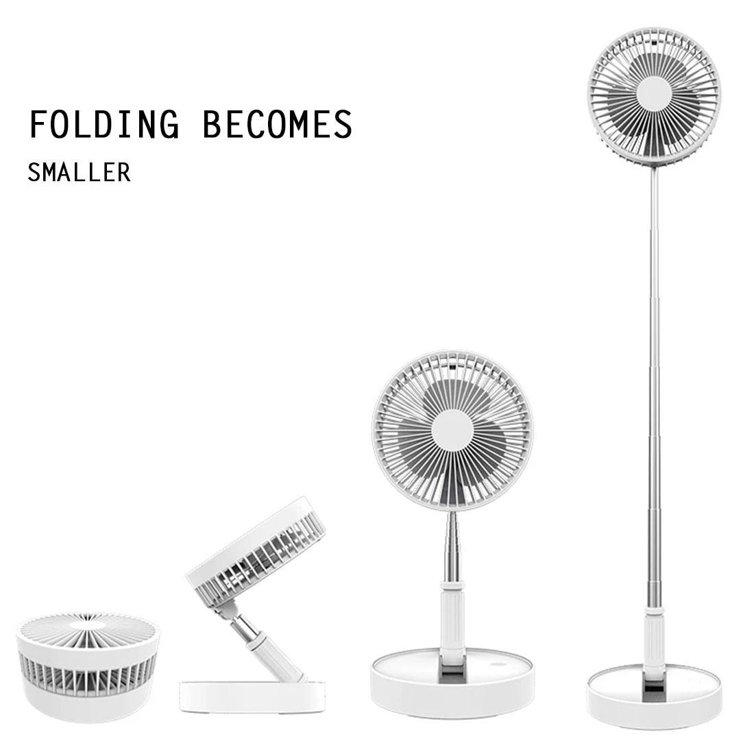 Ventilateur électrique portable usb Chargements mini pliants de ventilateur multifonctionnel télescopique Chambre à coucher familiale bureau de bureau de bureau de bureau de bureau