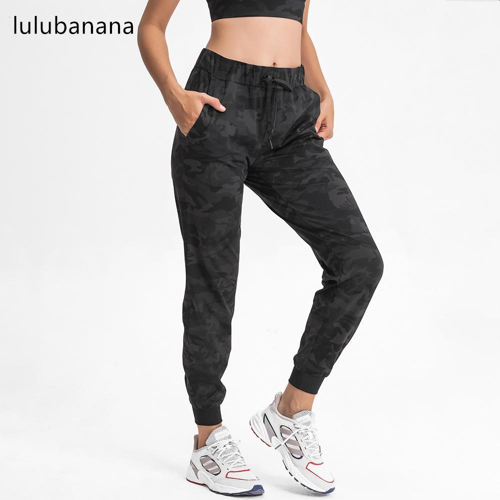 Lulu Çıplak Bel İpli Eğlence Spor Joggers Kadın Tereyelik Yumuşak Sıkı Egzersiz Spor Egzersiz Joggers Cep C0331