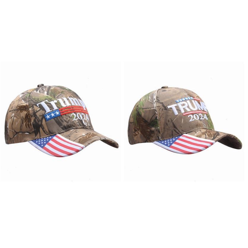 Donald Trump 2024 Caps de Beisebol Camuflagem EUA Eleição Presidencial Chapéus Ajustável Esportes Ao Ar Livre Camo Trump Hat Cyz3151