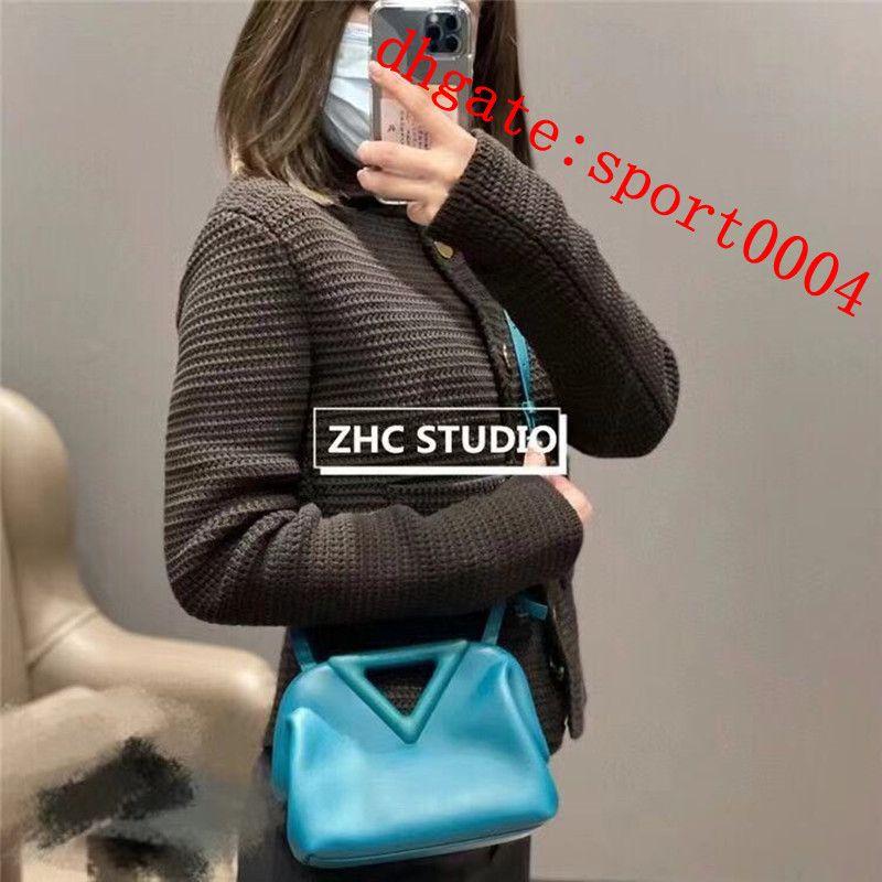 Womens luxury handbag designer V shoulder bags half moon fashion Dumpling leather bag simple multicolor triangle messenger handbags