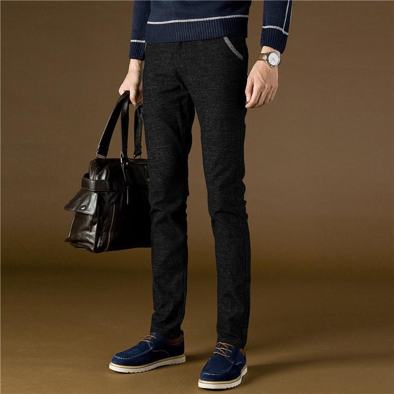 Men's Pants 2021 Casual Men Winter Sanded Office Trouser Dress