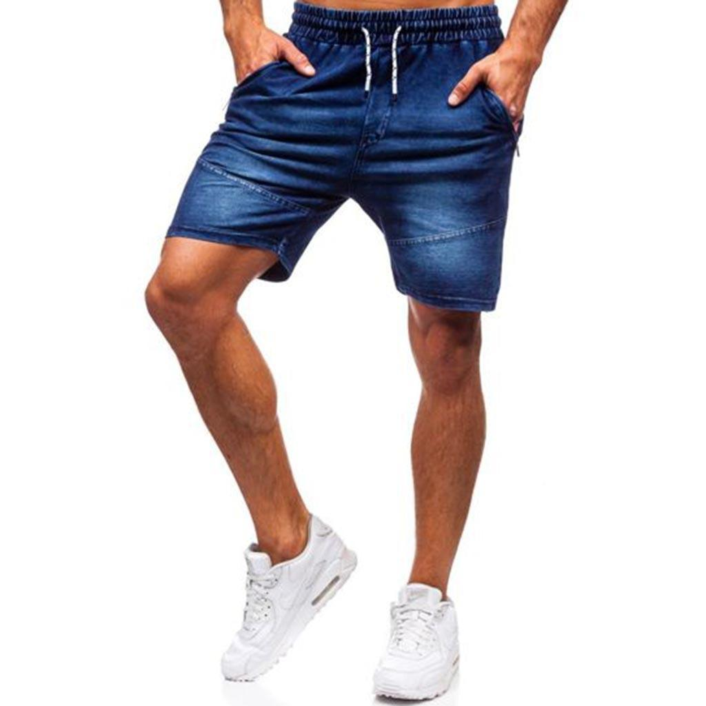 Men's casual jeans, jeans stretch sports shorts, knee length, big discount, 2021 J0524