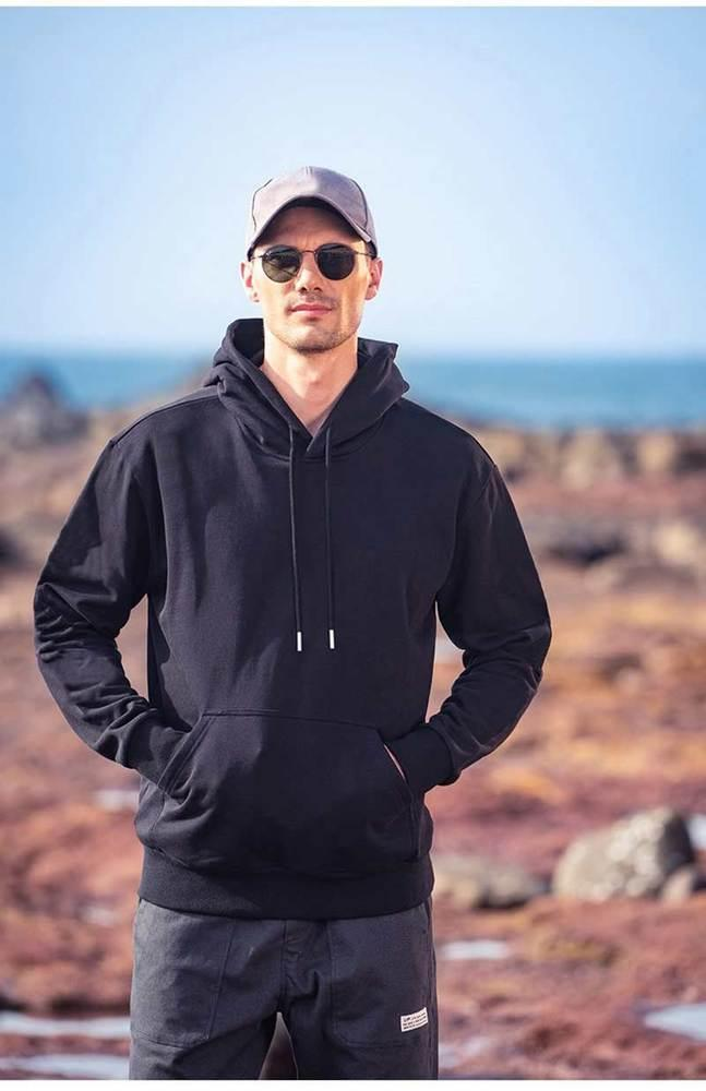 Moda para hombre con capucha Sportswear Hip Hop de alta calidad letra impresa sudadera con capucha sudadera hombres mujeres otoño negro - Q449