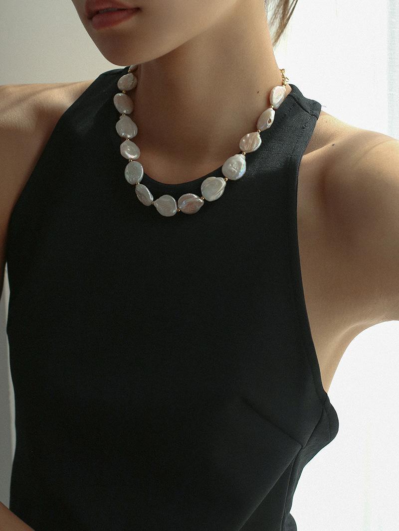 Zeitloses Wunder, wunderschöne natürliche Barockperle Choker Halskette Frauen Schmuck Designer Ins Mode Koreanisches Geschenk Trendy Classy 5448 Chokers
