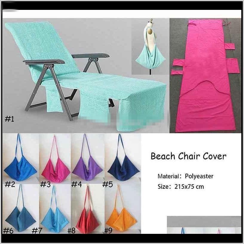 DHL Microfiber Silla de playa Cubierta de playa Silla de playa Piscina de toalla Silla Mantas Portátiles con toallas de playa Toallas Manta de doble capa