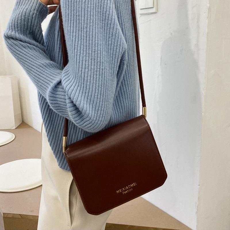 PB0008 Fashion French Niche Women's Bags Casual Versatile Mini Square One Shoulder Messenger Bag