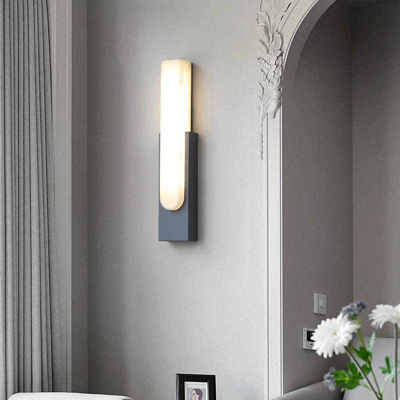 Postmodern Marble Led Wall Lamp Bedroom Bedside Simple Staircase Aisle Imitation Nordic Living El Model Decoration Lamps