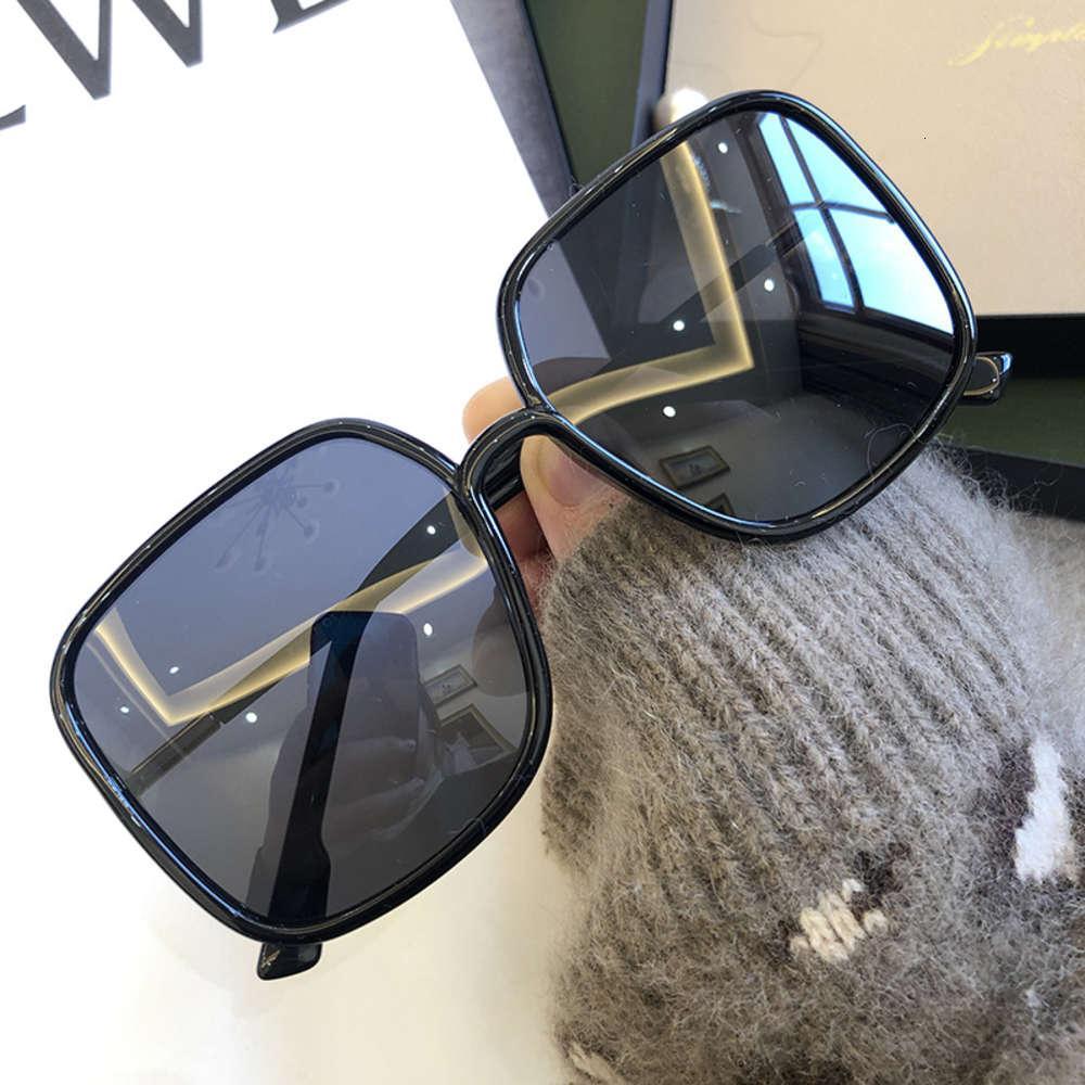Feminino Polarizado Sol Vidro Vintage Luxo Grande Sul Sunglass Preto Oversized Shad Mulheres 2021 Verão Condução de Vidro UV400