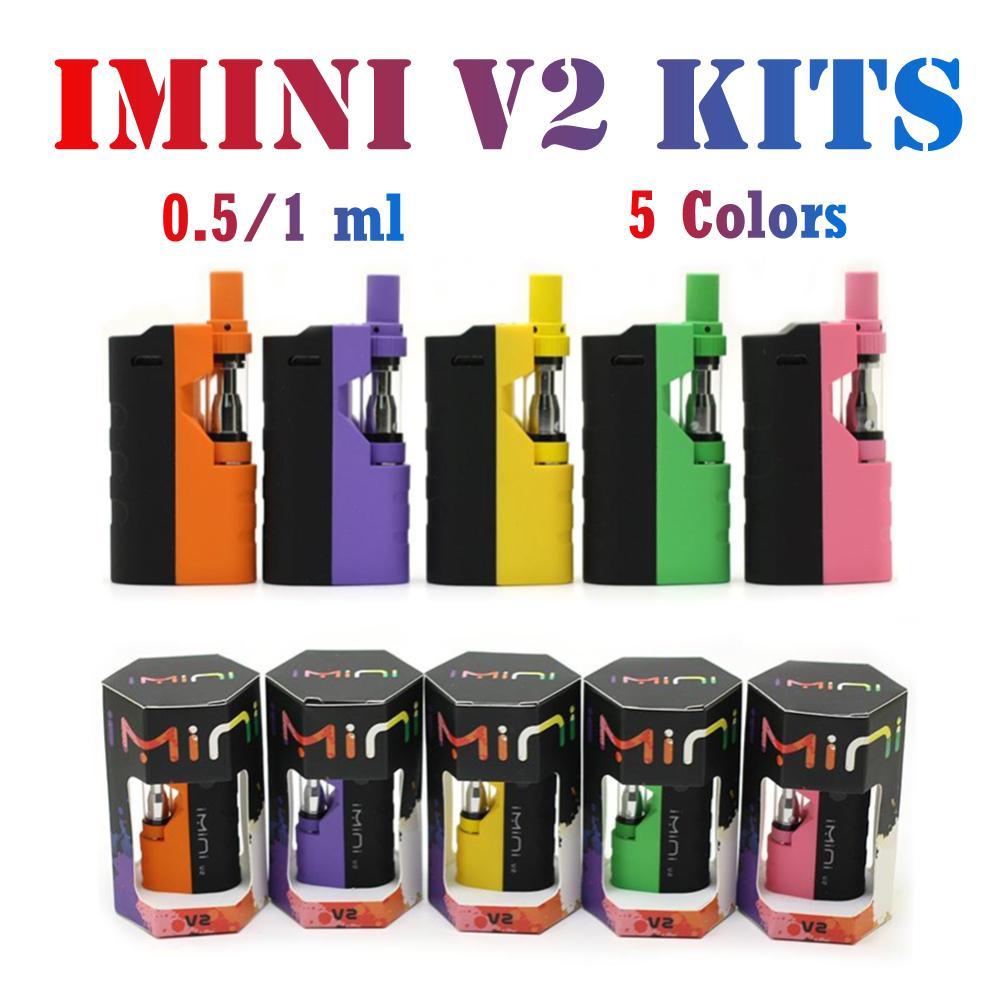 Original Imini V2 Mod Kit E Kits de inicio de cigarrillos 650mAh vv batería vape mods 0.5ml 1.0ml cartucho de grosor 11 colores