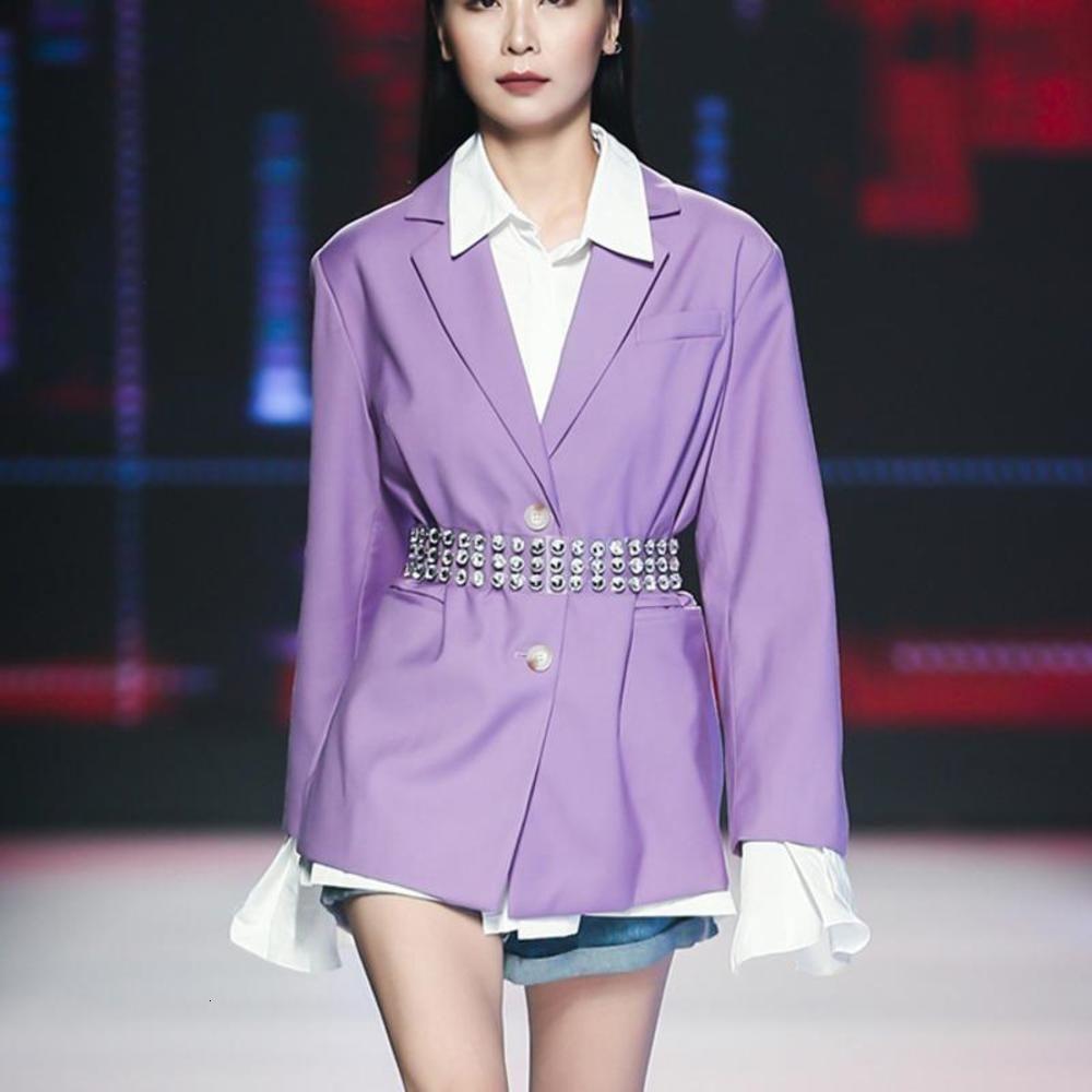 Sondr Katı Rahat Ceket Kadınlar Için Çentikli Uzun Kollu Büyük Boy Minimalist Blazer Kadın 2021 Güz Moda Yeni Giyim