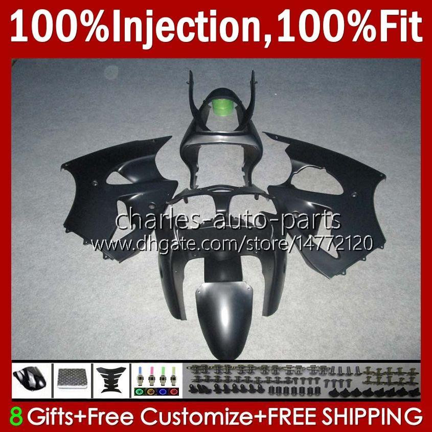 OEM-Körper-Spritzgussform für Kawasaki Matte Black Stock Ninja ZZR600 05-08 ZX ZZR-600 600 CC 05 06 07 08 COWLING 38HC.22 ZZR 600 600CC 2005 2006 2007 2008 100% Fit Verkleidungsset