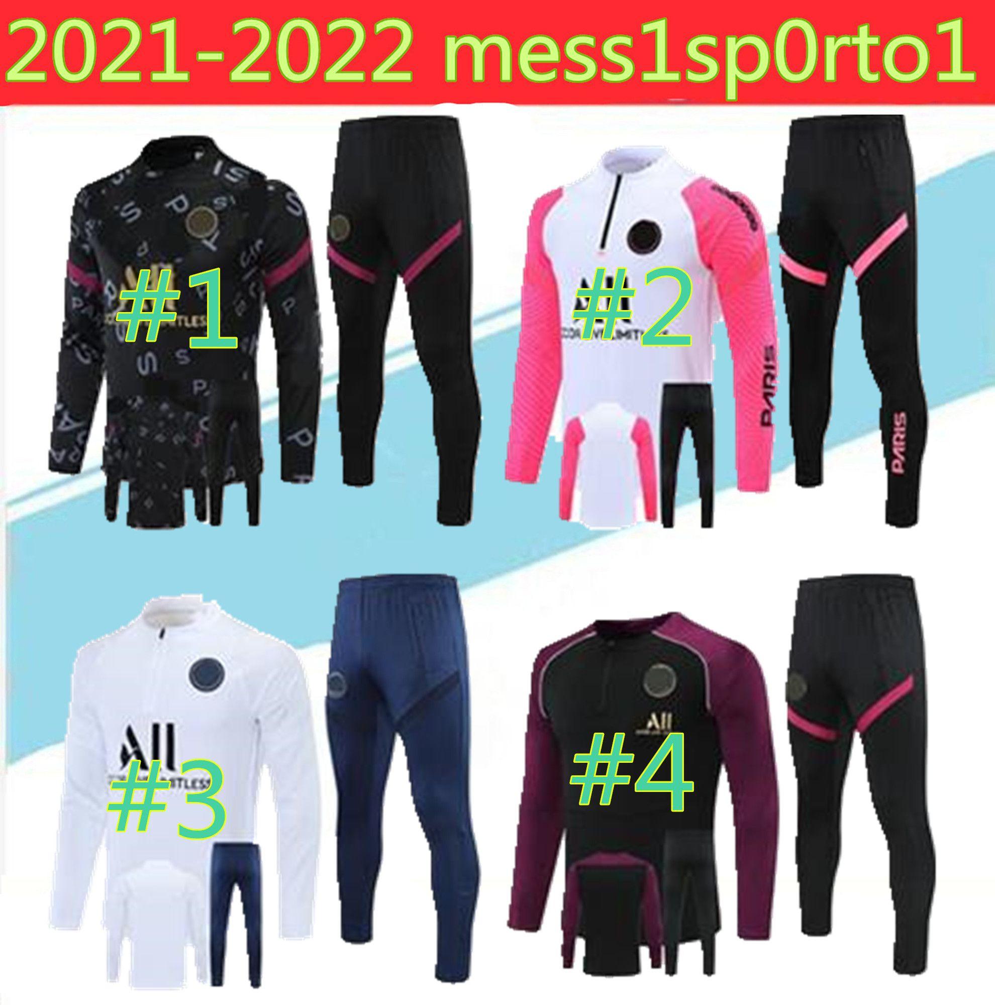 20/21 Par Uzun Fermuar Şapka Ceket Eşofman 2021 Mbapp Yağmur Seti Futbol Futbol Forması Kiti Eğitim Takım Elbise Üniforma Chandal