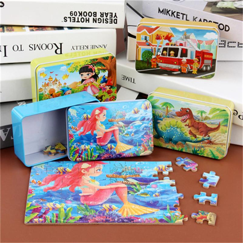 60 tabletas rompecabezas niños juguetes jigsaw niños y niñas juguete juguete dibujos animados divertido anime rompecabezas Educación temprana de madera