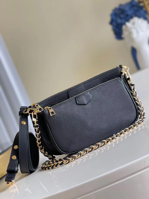 M80399 Combinación de dos piezas Multi Pochette Accessoires Bolsa 2pcs bolsas bolsas bolso bolso hombro moda mujeres pequeño asas cadena cruzada billetera M80447 M57630 M57631