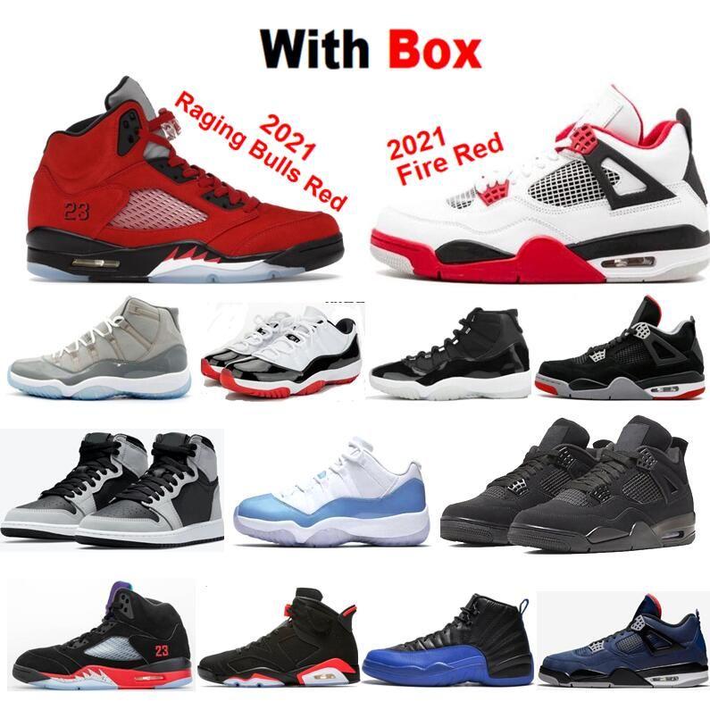 2021 OG Electro Laranja 1 Sapatos de Basquete Páscoa Raging Bulls Vermelho Hyper Royal Un Unc Legenda Azul 1S 11S 12S 6S 5S 13S 4S 3 Space Jam Homens Sneakers Concord 11 Que o