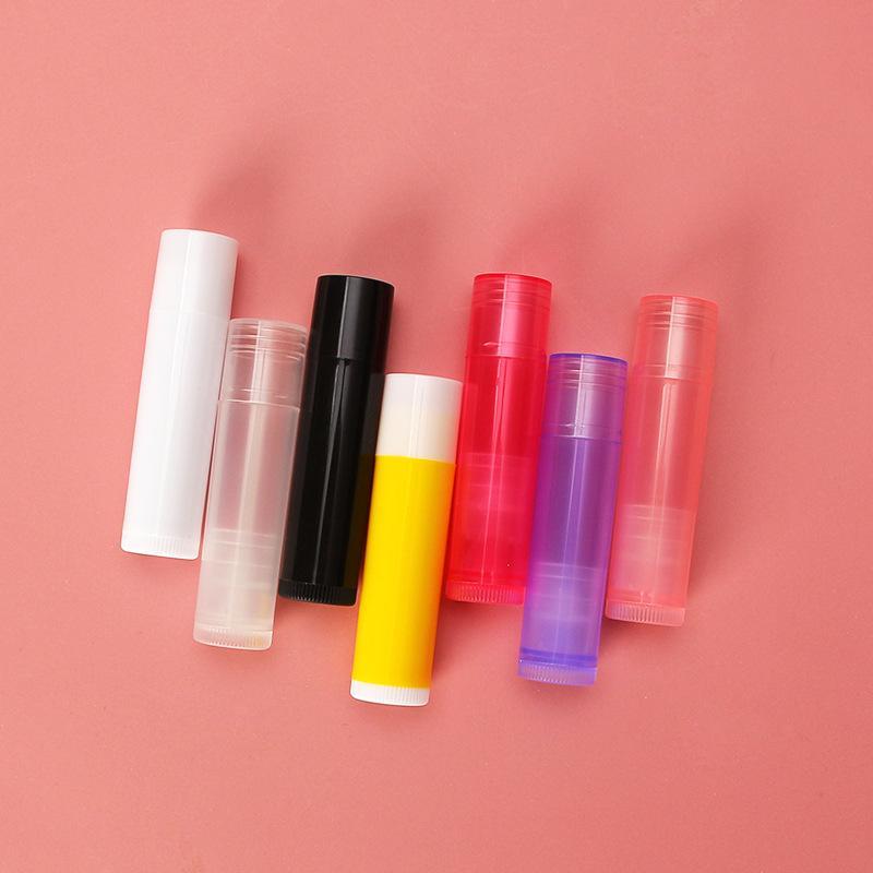 100 adet / grup 5g DIY Boş Ruj Dudak Parlatıcısı Tüp Balsamı Şişe Konteyner Kapak Renkli Kozmetik Örneği