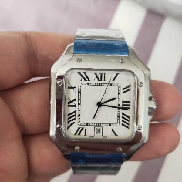 Factory Maker 2021 высокое качество мужские и женщины 22 40 мм часы белый циферблат из нержавеющей стали автоматический механический бесплатный транспорт