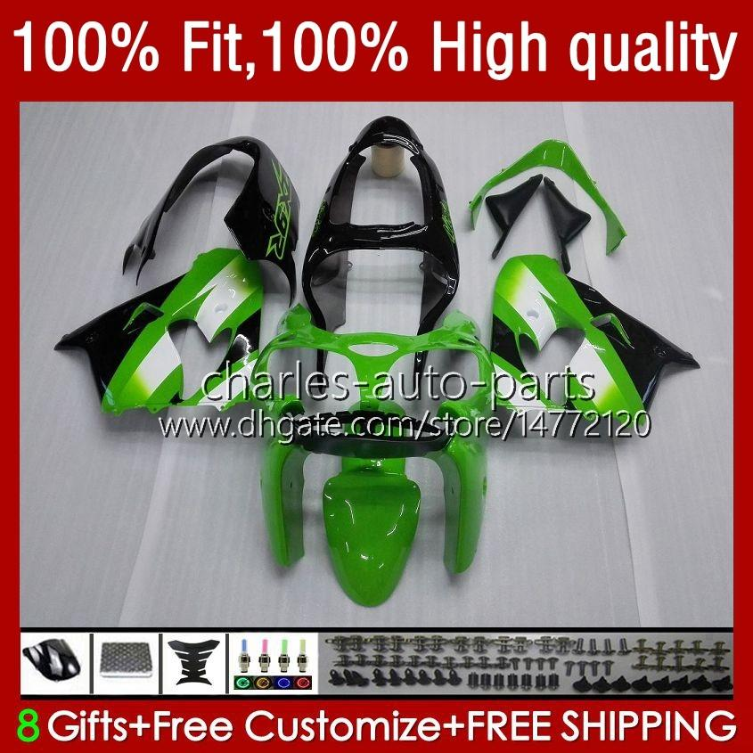 Kawasaki ZX900CC ZX900 ZX9 R ZX9R 00 01 02 03 Green Black 56hc.15 ZX 9R 9 R 900 CC ZX-9R 2001 2002 2003 2003 2003 Full Fairingsキット