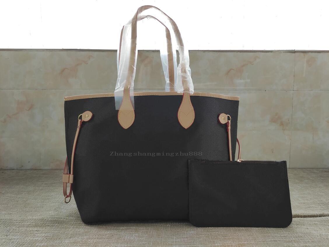 المرأة حقائب اليد حقيبة محفظة الأزياء 2 قطعة / المجموعة حقائب اليد جودة عالية جلدية سيدة الكتف محفظة مع أكياس الغبار