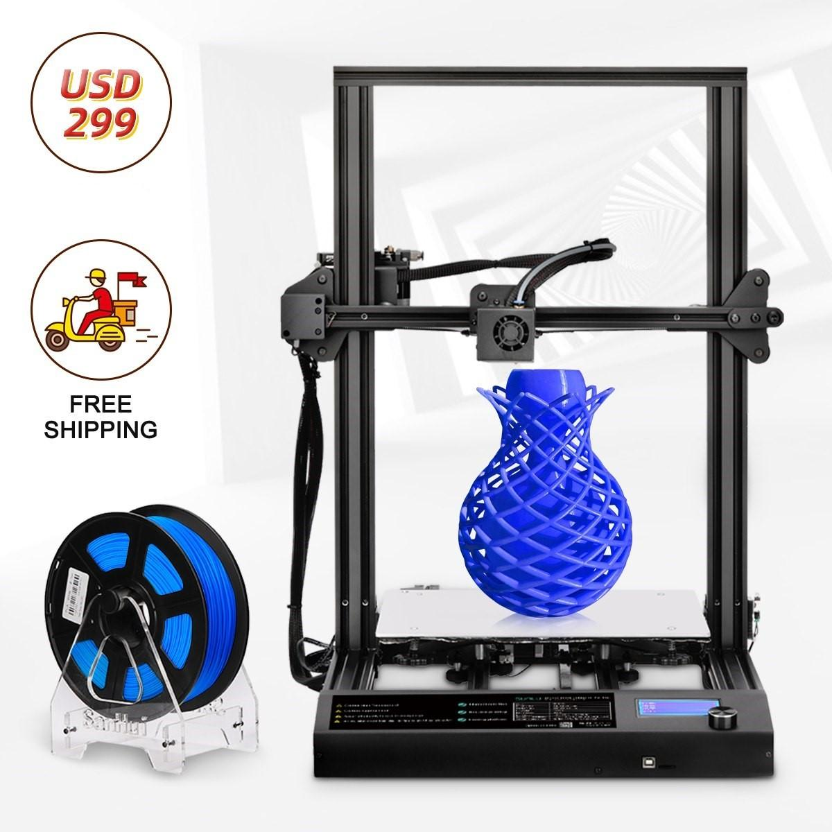 Design 3D Printer 310*310 *400mm Large Printing Size FDM and PLA/ABS/PETG Filament 1.75mm Fast Prototyping Creative Toy Gift. ECTA
