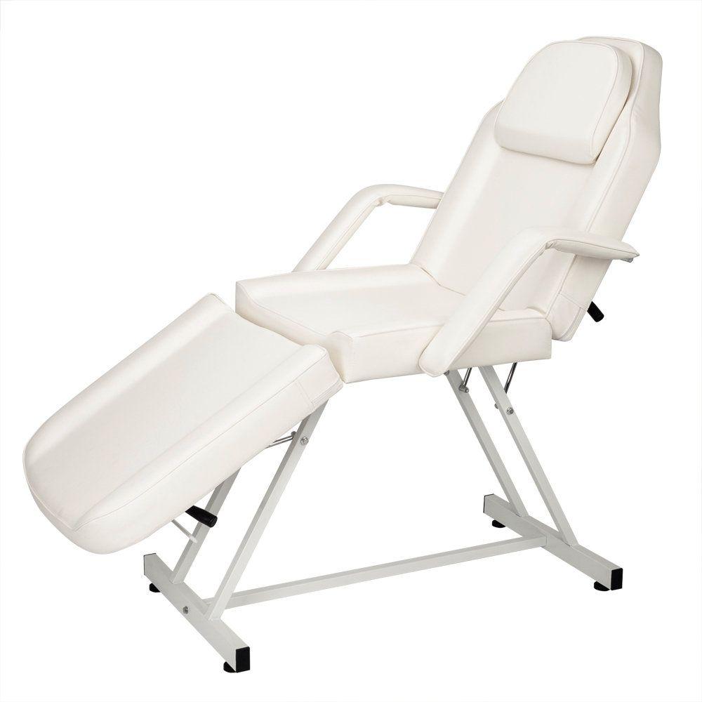 Стул для лица для лица WACO, салон массажная терапия татуировки мебель, кожаное покрытие складное двухцелевое портативное оборудование, белый