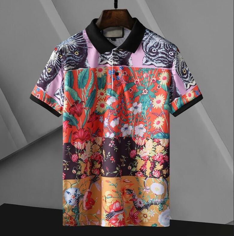 Summer Hommes Polo Chemises avec lettres Mode Designer Polos pour hommes High Street T-shirt T-shirt Classic Short Sleeve Tops Vêtements Multi option