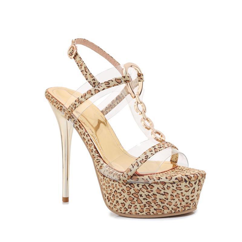 Sandali femminili ultra tacco ultra tacco ad arrivo con tacco ad alta moda con paillettes con piattaforma impermeabile