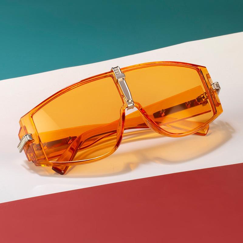 Hombre de alta calidad mujer gafas de sol de moda Moda Big Frame Deporte Eyewear Frame Frame UV400 7 Opciones de color