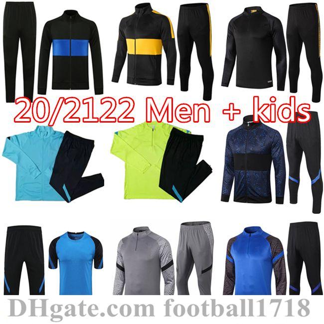 20 21 22 Eriksen Inter Lautaro Hakimi Jacket 2021 Lukaku 축구 훈련 정장 Bebella Survetement Football Tracksuit 조깅 조깅 샹들리얼 Futbol