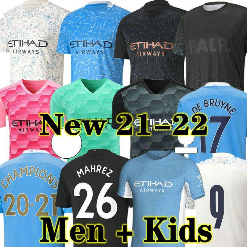 Kun Aguero 20 21 Manchester City Fussball Jersey GK 2020 2021 Mann Sterling Football Hemd Manchester de Bruyne GESUS BERNARDO MAHREZ RODRIGO Männer + Kinder