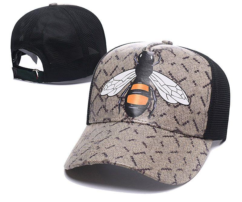 Classic Tight Cast Cavet Hat Snake Tiger Bee Cat Holvas с участием мужчин бейсбольная кепка с коробкой пыли сумка мода женщин солнцезащитные шляпы