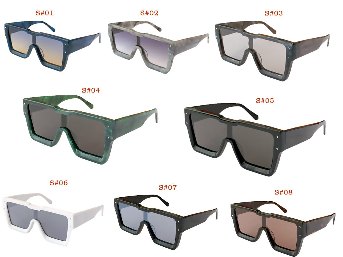 Multi color Sunglasses Eyewear Sun Glasses Full Frame Wrap Goggle Protection Beach with Box