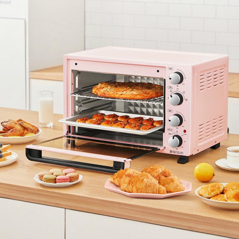 Fornos elétricos 35l grande capacidade multi-função totalmente automática Forno padaria para casa pizza torradeira 220v