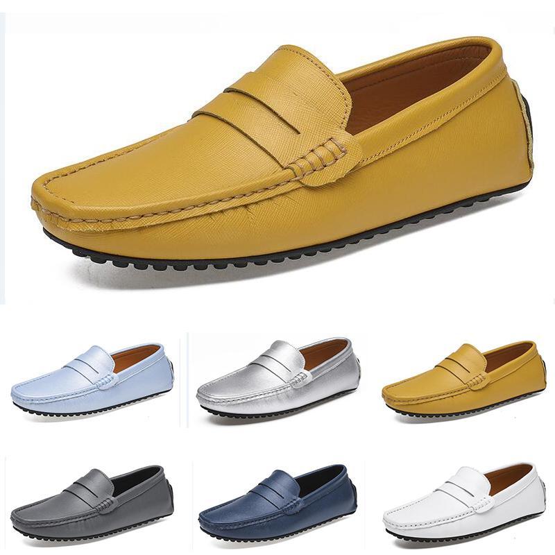 الأحذية 2021 الرجال غير العلامة التجارية الاحذية أسود أبيض بيج رمادي الأزرق الداكن الأصفر رجل الأزياء المدرب رياضة الركض في الهواء الطلق المشي # 86