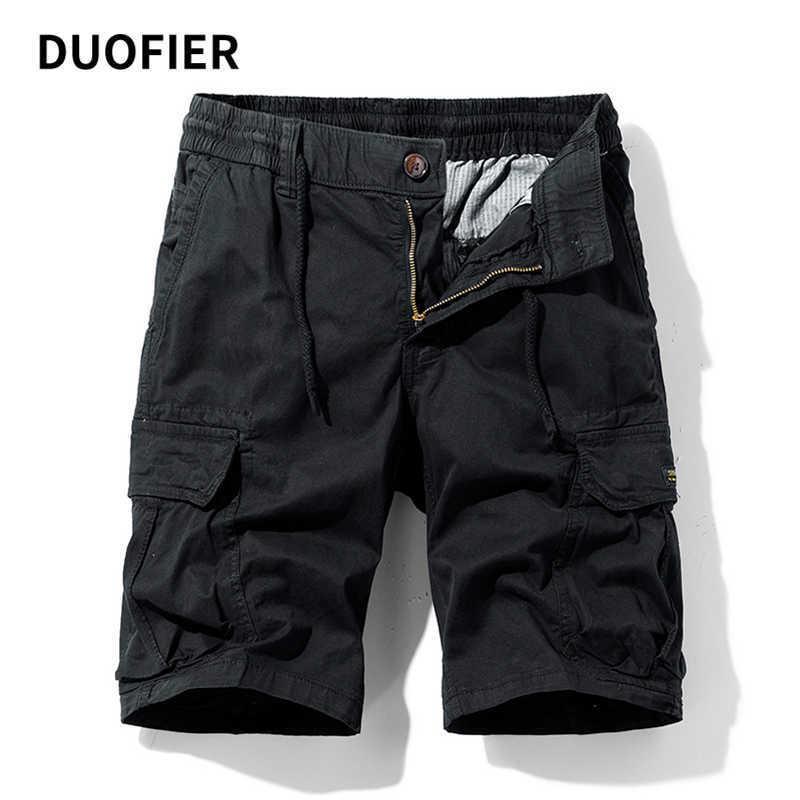 Mens Military Cargo Shorts Sommer Armee Multi-Pocket Reißverschluss Taktische Shorts Baumwolle lose Arbeit casual kurze Hosen plus Größe 38 210603