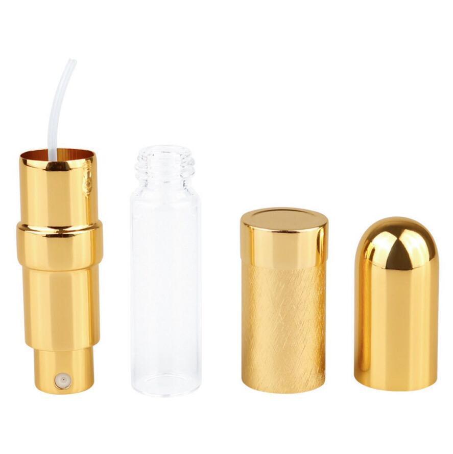 Bullet Toplu Parfüm Şişe Sprey Alüminyum Tüp Boş Şişeler Parti Malzemeleri Kozmetik Taşınabilir Mini Cam Liner 6 ml Sea HHC7536