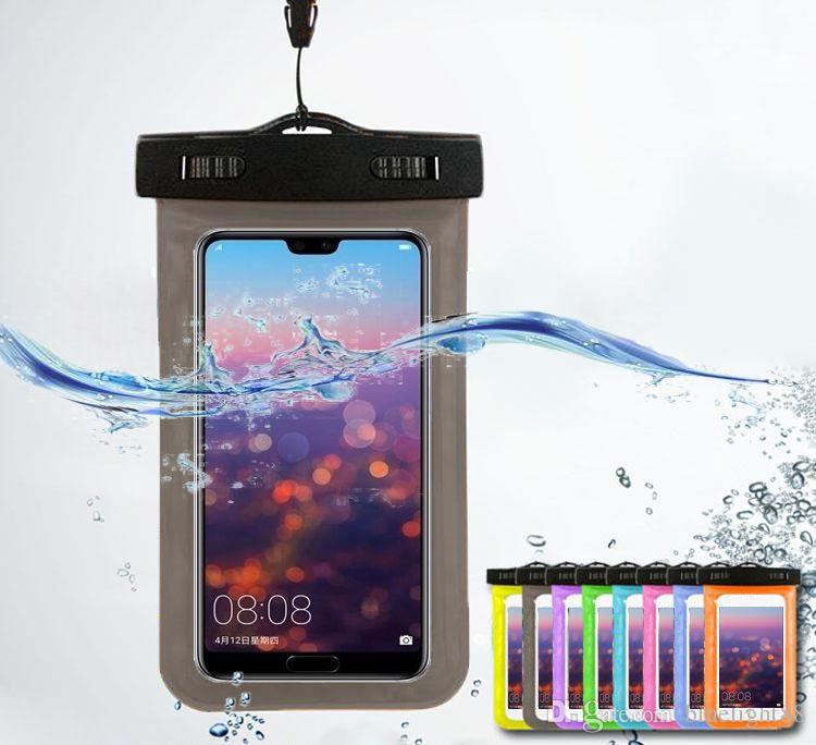 Custodia impermeabile per borse a prova di acqua per sacchetto impermeabile per casi per custodie universali a prova di acqua Tutto il cellulare