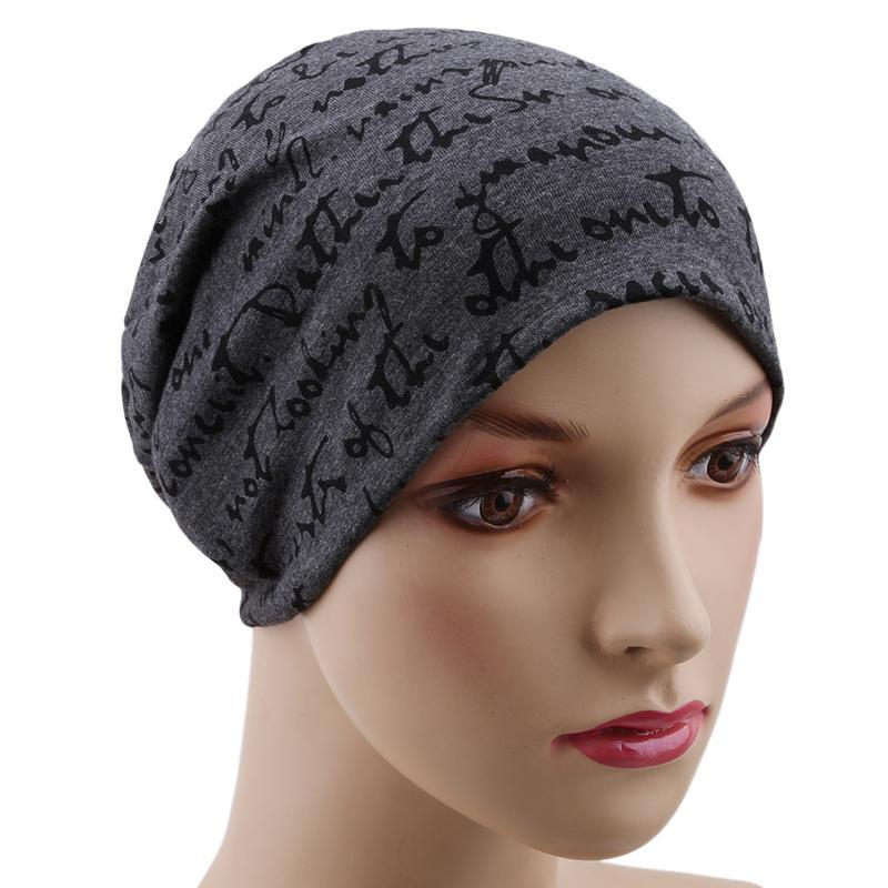 Women Cycling Cap Crochet Knit Riding Winter Letter Printing Beanies Warm Caps Female Knitted Stylish Running Skiing Hats & Masks