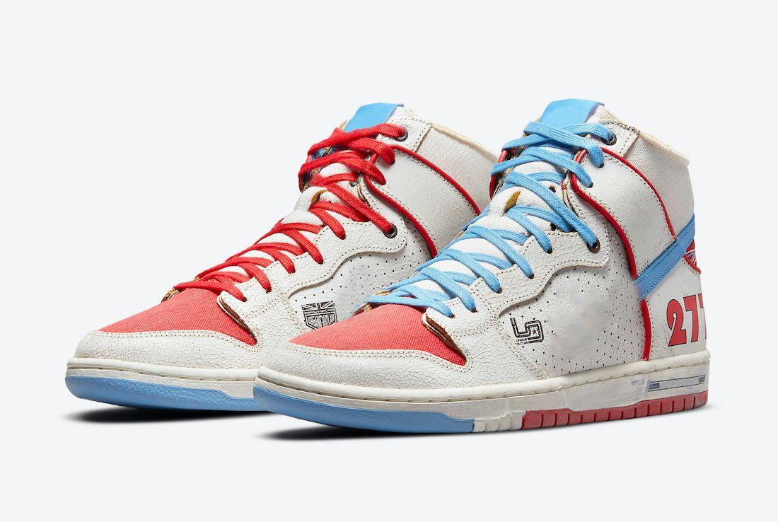 2021 أصيلة دونك عالية برو ishod wair ماغنوس ووكر أحذية sb الشراع الجامعة الأزرق الأحمر الرجال النساء أحذية رياضية في الهواء الطلق DH7683-100 مع المربع الأصلي