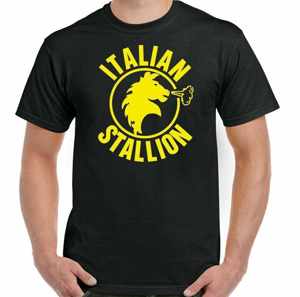 ITALIAN STALION T-SHIRT Mens Rocky Balboa Boxing Movie Gym Training Top MMA UFC