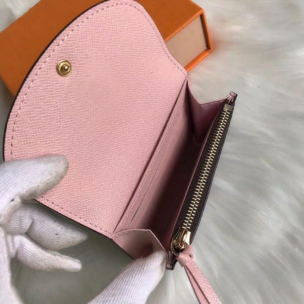Dicky0750 Portafogli di design di alta qualità Portafogli all'ingrosso Porta carte Classico Classico Portafoglio corto per le donne Frizione Fashion Box Lady Coin Borsa Donna Business