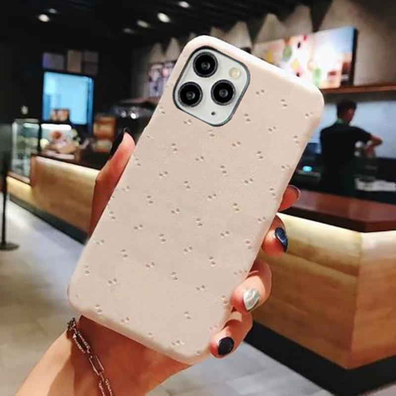 Designer Telefono Custodie per iPhone 12 Mini 11 Pro Max XS XR x 8 7 Plus Custodia in rilievo di moda classica Samsung S20 S21 Nota 20 coperchio del protettore