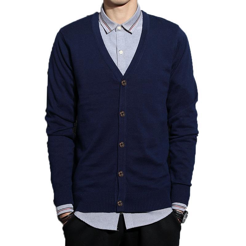 Mens Kazak ile 5 Renkler Hırka Ince Uzun Kollu Örme Moda Stil Erkek Kazak Asya Boyutu M-3XL