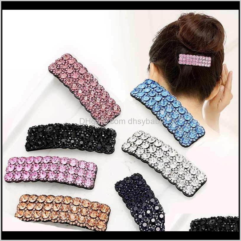 Jewelry Drop Consegna 2021 Moda Rhinestone Diamond Girls Designer clip Accessori per capelli per le donne BB clip Bambini Birrettes Xij6T