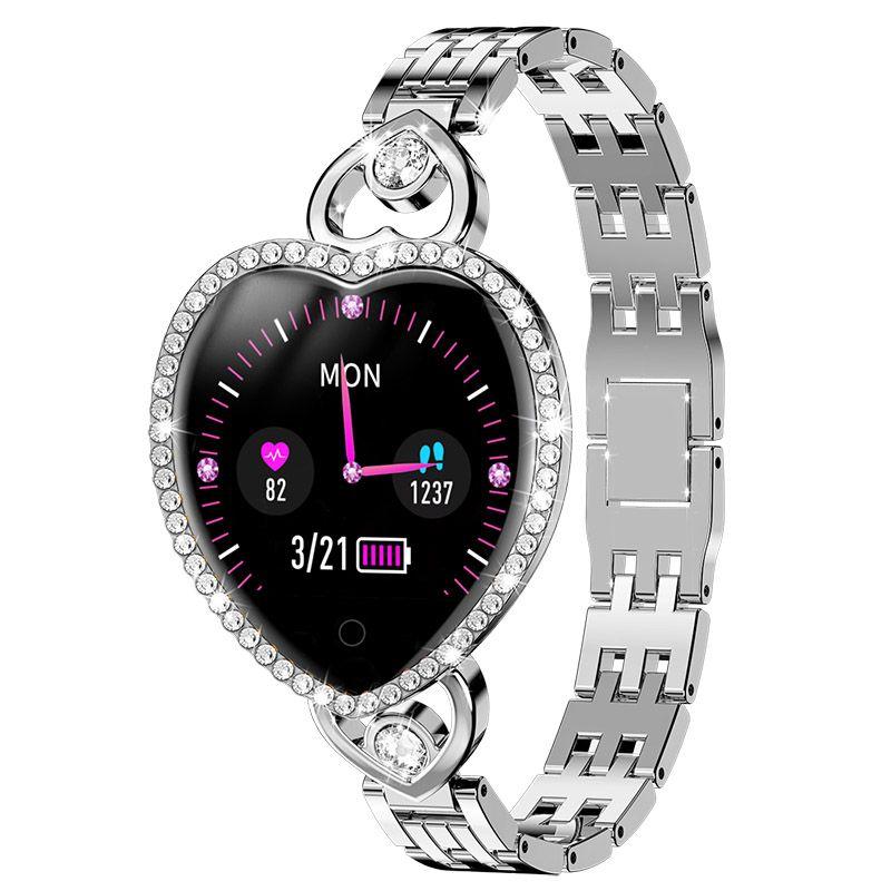 T52 Smart Watch Watch Donne Signore Bride Braccialetto Orologio Sport Smartband Sleep Sleep Telecamera Telecamera Blood PRESSIONE REALE VASSORE CUORE Monitor Fitness Tracker Girl Smartwatch