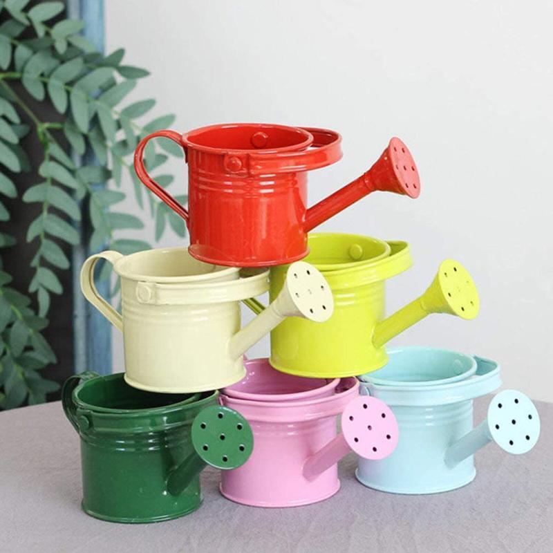 1pc Creative Watering Tin Simple Pot Pot Durevole Ferro Bollitore Bollitore Bollitore portatile per Garden Home Plants Attrezzature floreale