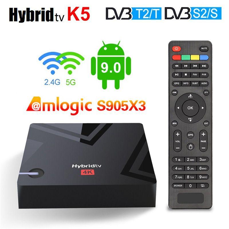 MECOOL K5 Smart TV Box Android 9.0 Amlogic S905X3 2.4G 5G WIFI LAN 10/100M Bluetooth 4.1 2GB 16GB