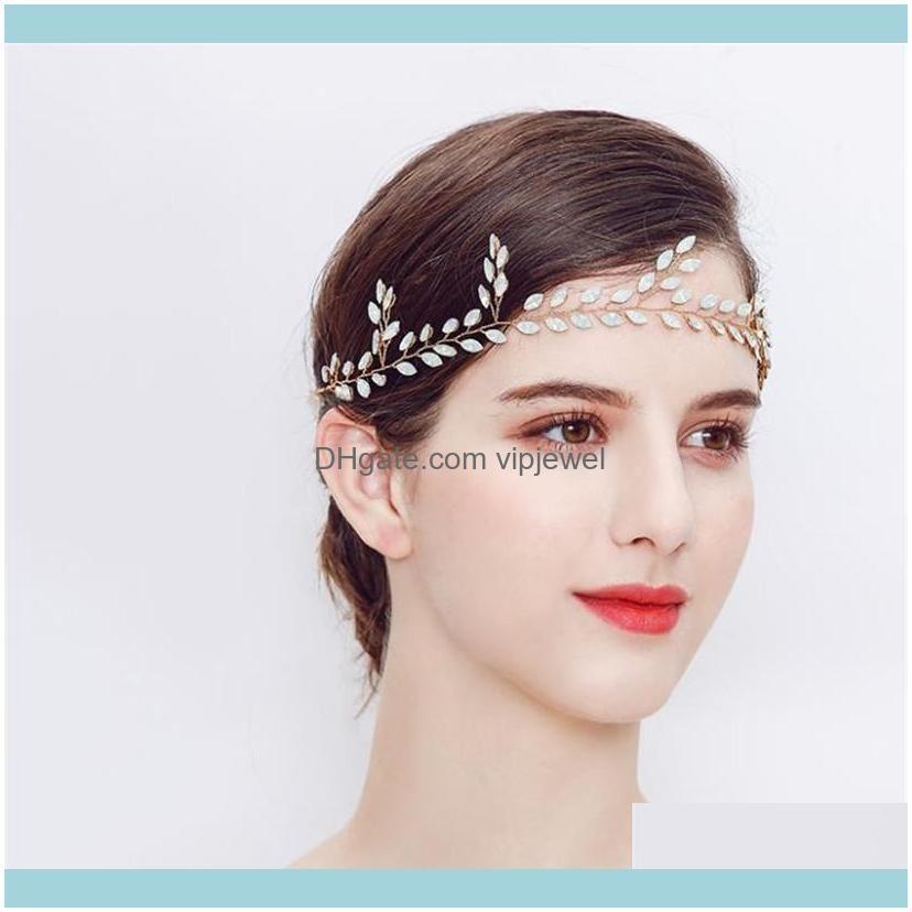 Jewelryvintage Wedding Bridal Rhinestone Headband Ribbon Crystal Hair Aessories Jewelry Gold Sier Headdress Princess Queen Headpiece Drop De